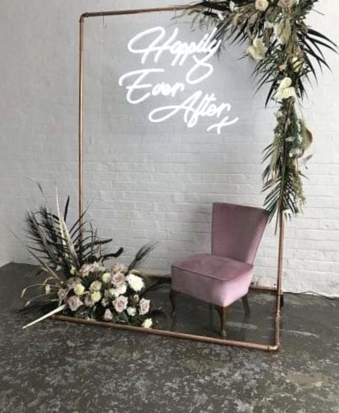 Shop For Your Wedding The Preloved Way With Sell My Wedding Take A Look At Brides Buy Of The In 2020 Neon Wedding Bridal Shower Decorations Rustic Lights Wedding Decor