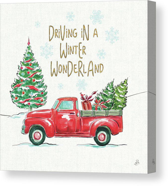 Christmas In The Country Iv Canvas Print Canvas Art By Daphne Brissonnet Christmas Wall Art Trademark Fine Art Wrapped Canvas Art