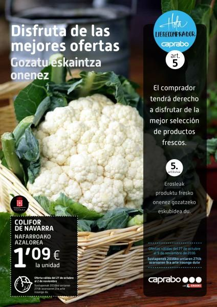 Folleto Caprabo en Navarra y Cataluña -  Ofertas del 27 de octubreal 9 de noviembre en los supermercados Caprabo y en en la página online. Ofertas Caprabo Cataluña  Ofertas Caprabo Navarra   #Caprabo, #Folletosonline   Ver en la web : https://ofertassupermercados.es/folleto-caprabo-navarra-cataluna/