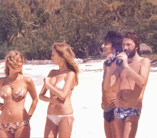 Pattie & Eric Clapton with Ronnie Wood & his significant other