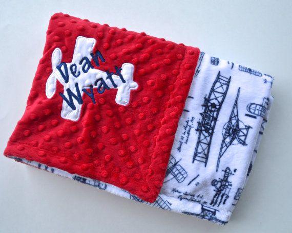 Monogrammed Baby Blanket  Minky Personalized  by MoonbeamMinky