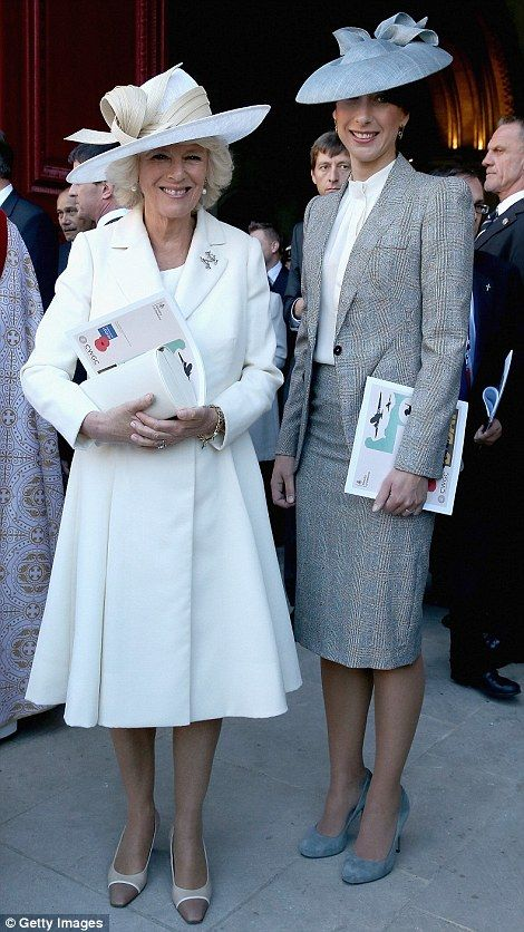 dailymail:  Duchess of Cornwall and Samantha Cameron, wife of British Prime Minister David Cameron, leave Bayeux Cathedral for a Service of Remembrance during the 70th Anniversary Commemoration of D-Day, June 6, 2014