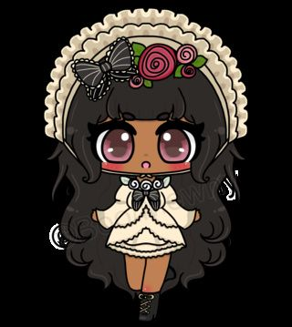 My half of the art trade between me and Daliza on Line Play! She ended up REALLY loving it (she wants to put it on a shirt). This was very tough to draw because I'm really bad at frills. #boo #mewny #line #play #commission #daliza #art #trade #chibi #cute #kawaii #adorable #anime #manga #fancy #formal #gothic #black #hair #welcomenewpwusers #otherpw
