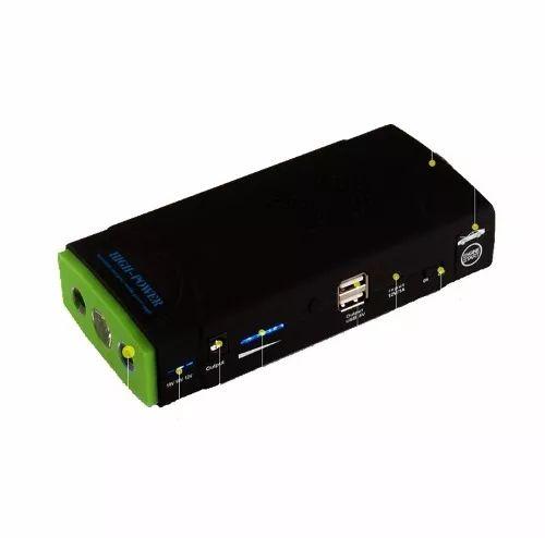 auxiliar partida carregador bateria carro 13500mah saida 12v