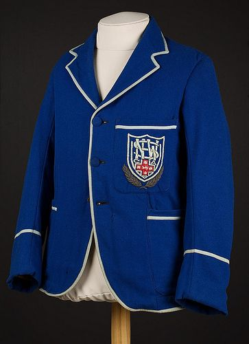 Don Bradman's New South Wales team blazer, blue, insignia on pocket. Bradman played for New South Wales between 1927 and 1934.