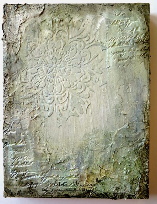 Astrid's Artistic Efforts: Texture or embossing paste, - a canvas for A Vintage Journey