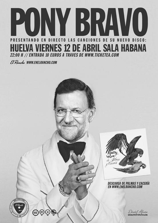 Cartel de Daniel Alonso para Pony Bravo www.enelrancho.com