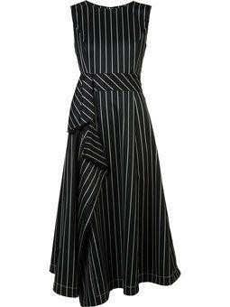 асимметричное полосатое платье