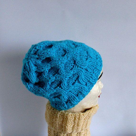 Women Hat  Ice Blue Slouchy HatWomen Beanie by recyclingroom, $25.00