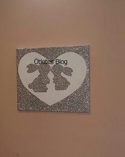 Ötletes Blog: Különleges csillámporos faldekor