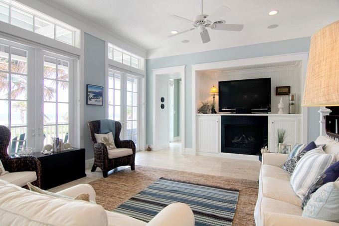 For the dining room?Beach Blue Families Room, Beach Houses, Blue Living Rooms, Beach House Families Room, Beach Family Room, Beach Families Room, Beach Galveston House, Furniture Placement, Beach House Family Room