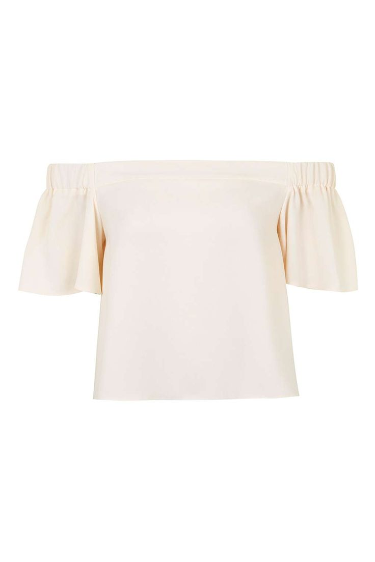 Stuctured Bardot Top - Topshop