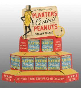 Cardboard Planters Peanut Mr. Peanut Display, 1930s