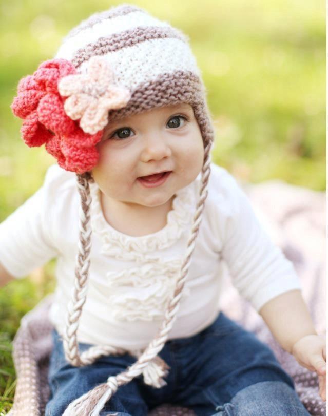 cute knit hat! | Baby Girl | Pinterest