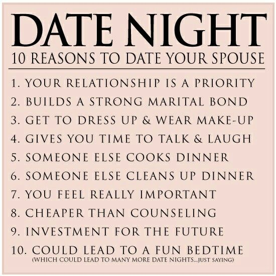Just got a date night invite. Never stop dating your spouse!!!