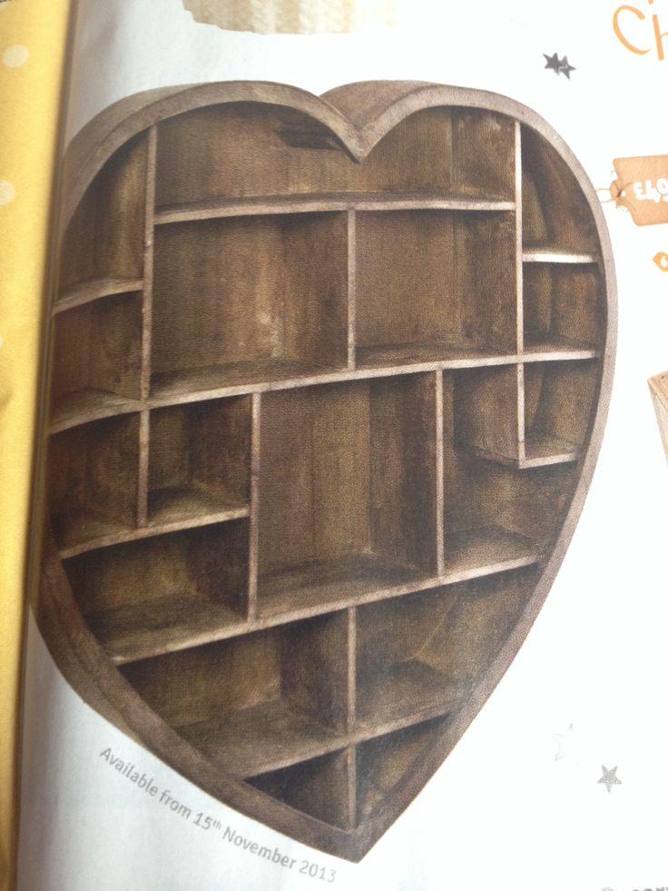Wooden Heart Shelf Unit The Range Home Pinterest
