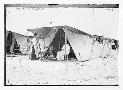 Photo Tent Tent City beach Rockaway N.Y.