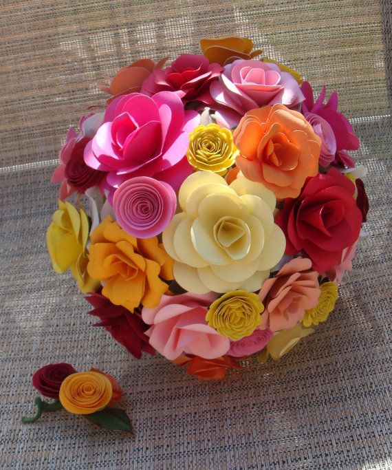 Customize your own Paper Flower  Wedding Bouquet  Rehearsal bouquet Toss Bouquet Handmade Paper Flower  Custom  Orders  Welcome etsy sweetpea