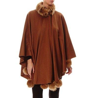 Prezzi e Sconti: #Baya sonia mantella in lana con rifiniture Donna  ad Euro 602.00 in #Cappotti #Cappotti giacconi