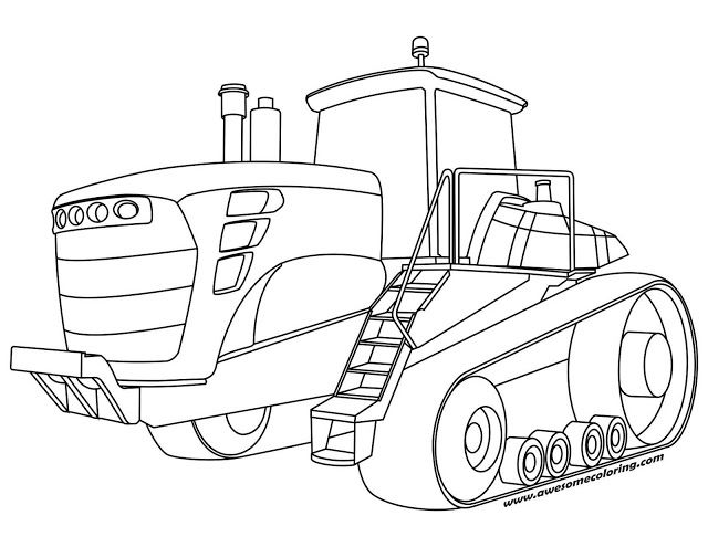 Awesome John Deere tractor coloring page ready to print or