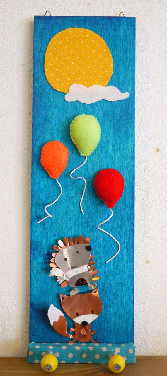 Nursery Kids Animal Clothes rack by FabLabCrafts on Etsy