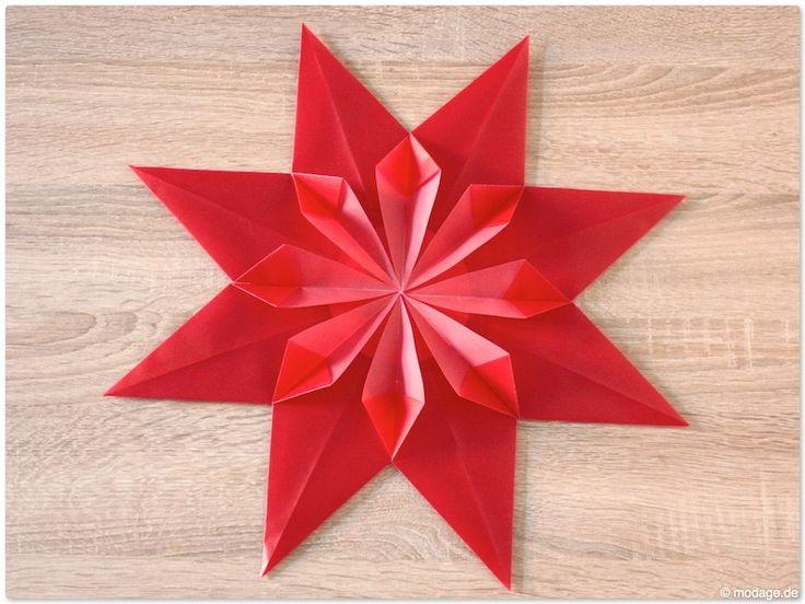weihnachtsstern sternenglanz origami advent und crafts. Black Bedroom Furniture Sets. Home Design Ideas