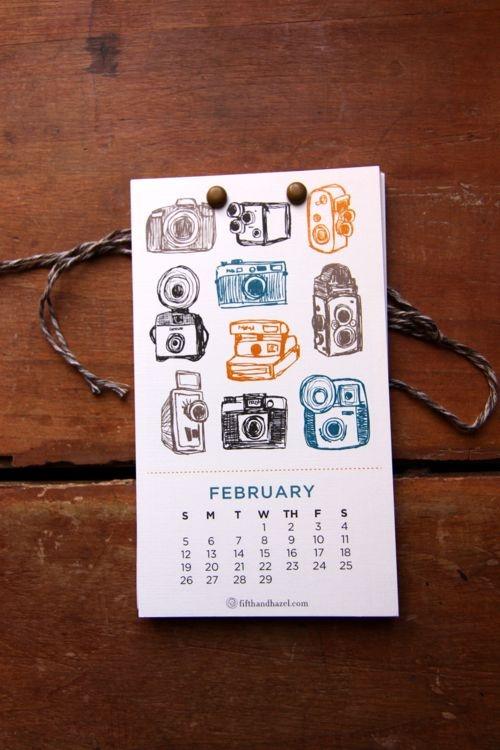 Desk calendar designed by Melanie of Fifth & Hazel.
