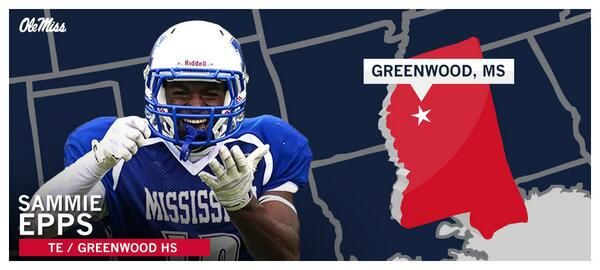 Ole Miss Football - Signing Day Player Card