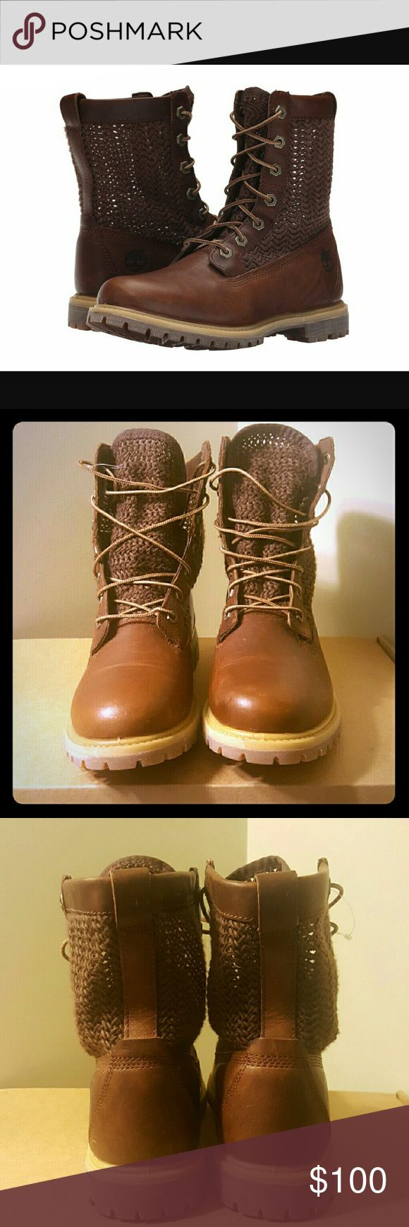 Womens Timberland boots Style: A14A9 brown open weave boots. NWOT never worn Timberland Shoes Lace Up Boots
