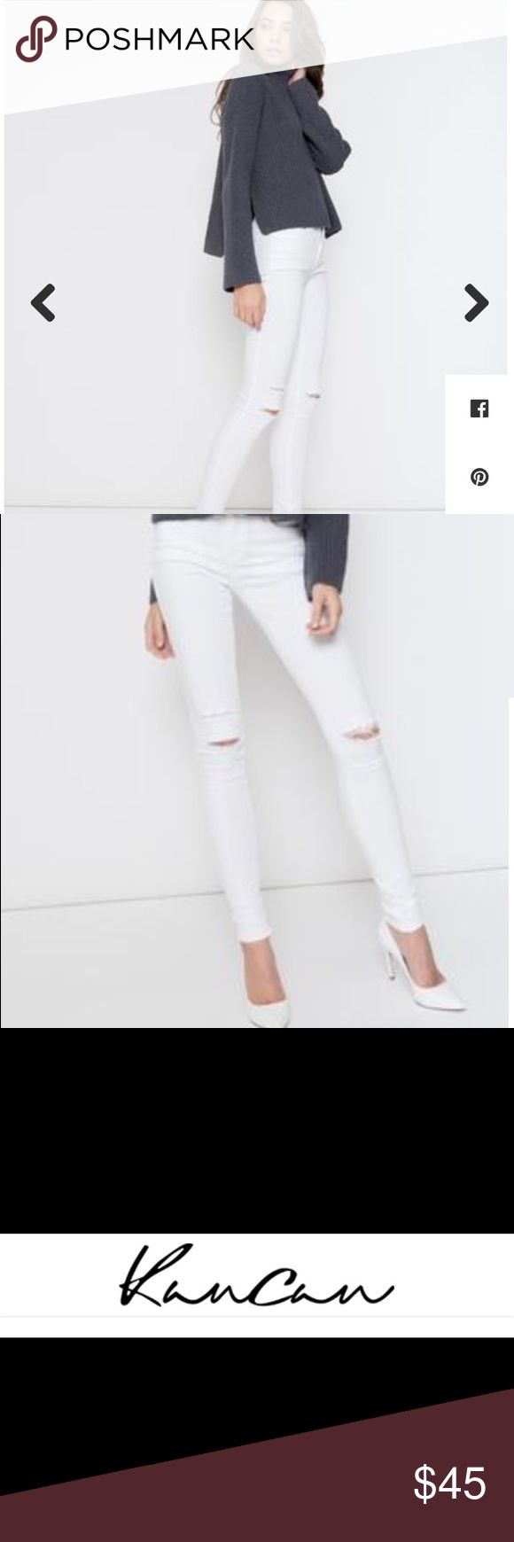 KanCan (NWT) White Denim- Apricot Lane Brand new white denim with knee slits. Size 28 (or 9 for those of you who prefer junior sizing guides). Retails for $59.50. KanCan  is a company out of Las Angeles. White denim definitely hot this season!!! I have an identical pair in black too. Jeans Skinny