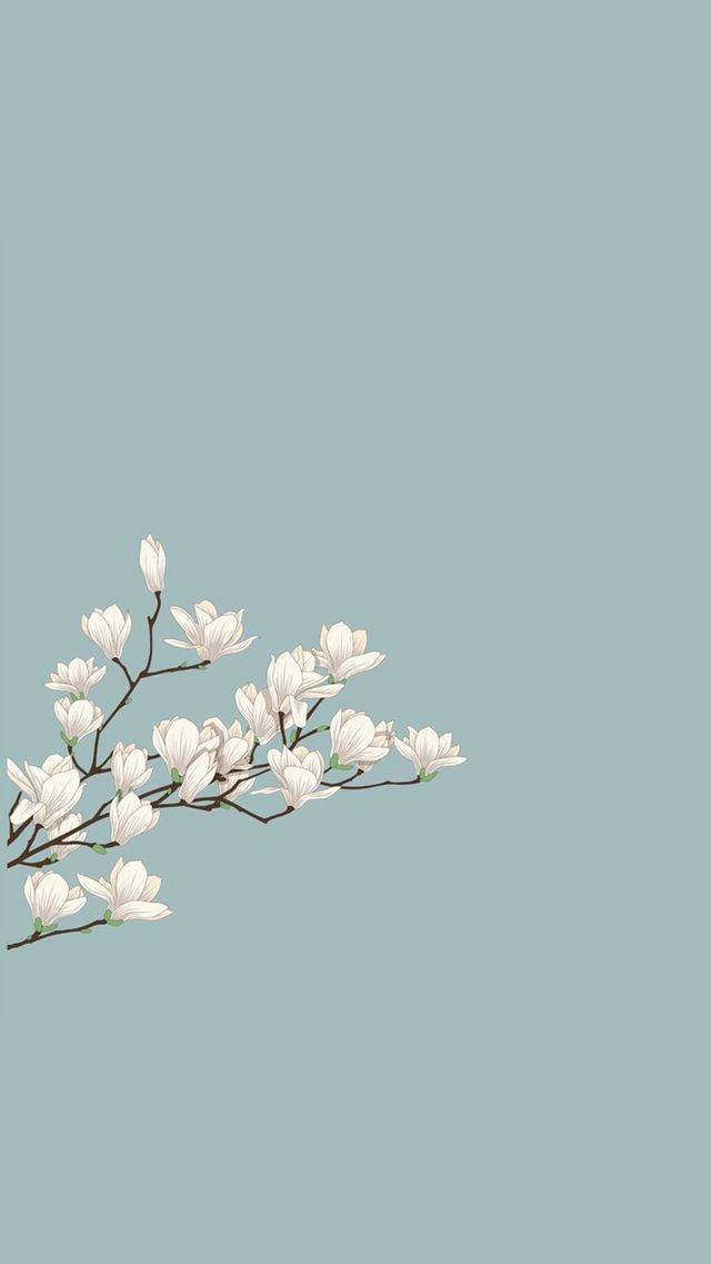 Wallpaper Phone Iphone Android Simple Aesthetic Pretty Japanese Blossoms Minimalist Wallpaper Backgrounds Phone Wallpapers Aesthetic Iphone Wallpaper