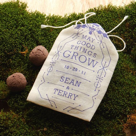 personalized seed bomb favors