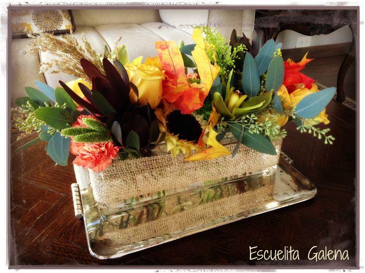 decoracion para la sala flores de otoo centro de mesa