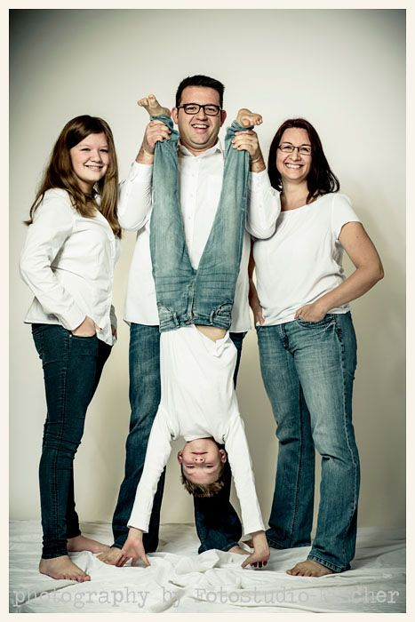 Familienfoto in Farbe