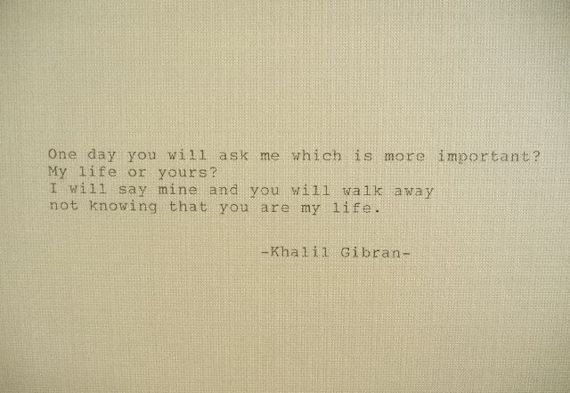 KHALIL GIBRAN Love Poem Love Quote Khalil Gibran by PoetryBoutique, $7.00