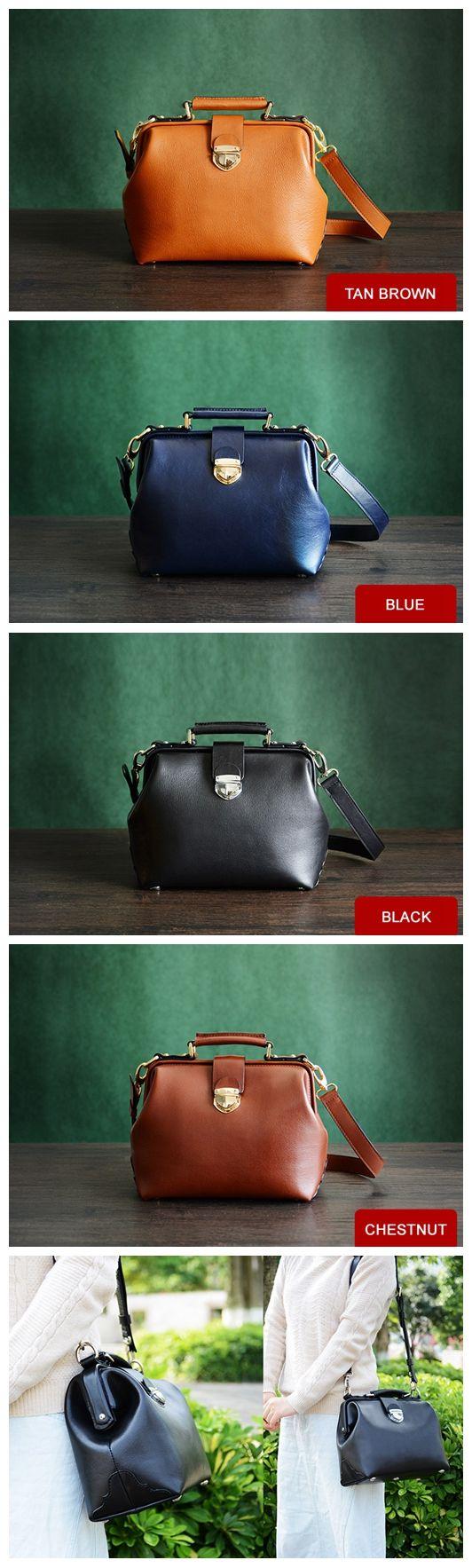 Custom Handmade Vegetable Tanned Leather Satchel Bag, Doctor Bag, Messenger Shoulder Bag