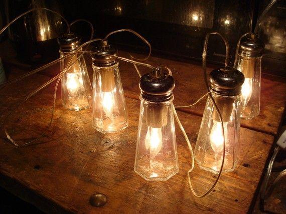 salt shakers = string of lights