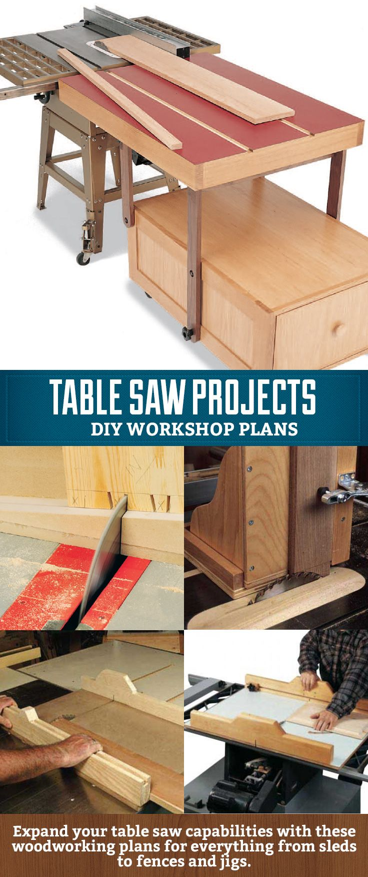 Looking to increase what you can do with your table saw? Consider making fences…