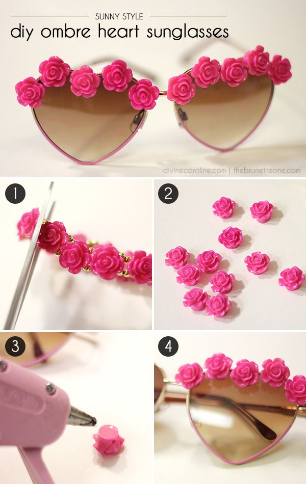 Create your own festival-worthy sunglasses using inexpensive jewelry bits. #diy #sunglasses #festival #accessories