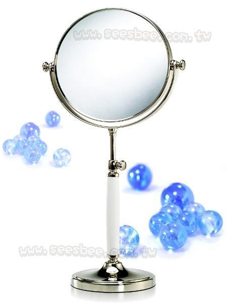 歐美最新可調整型雙面彩妝鏡(1X/5X)純銅材質、陶瓷握把
