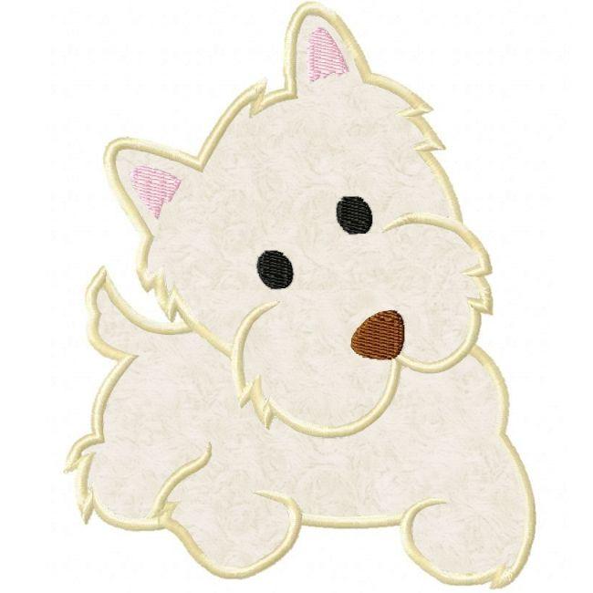 Yorkie Terrier filhote de cachorro Applique