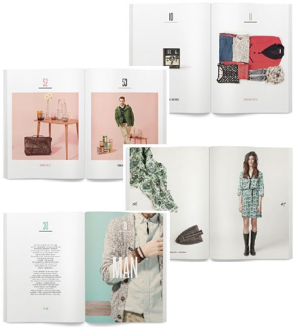 Repinned | Marketing Material Inspiration. Business cards, look books, leaflets etc. Springfield, Lookbook, Editorial, Fashion.