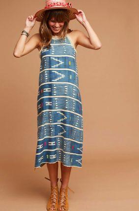 Corey Lynn Calter One-Of-A-Kind Ikat Fringed Dress