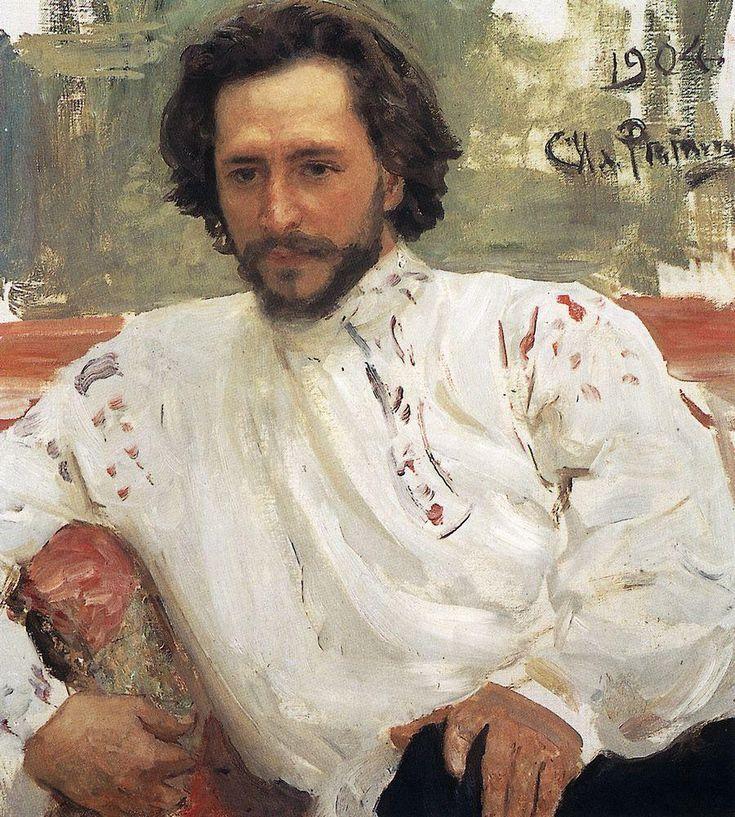 Portrait of Leonid Nikolayevich Andreyev ~Ilya Repin, 1904