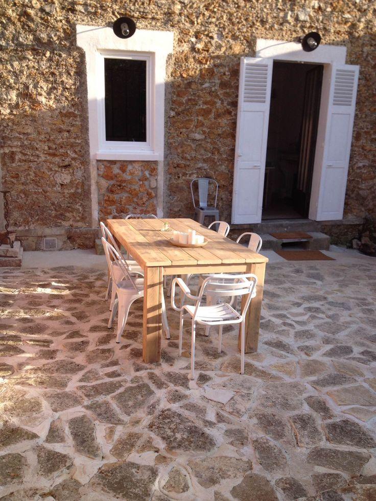 Table Pays Bois  Tables en ancien bois déchafaudage  Pinterest  Tables
