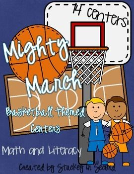 Basketball theme for March or anytime of the year! 7 Math Centers + 7 Literacy Centers=14 Centers Total!Activities can be used as centers or as small group activities!Included in packet:7 Math Centers:Double Digit Dribbling Facts (addition)Odd & Even Basketball SortPlace Value ScoringMissing Number HoopsMeasurement Top ItSubtraction with RegroupingName