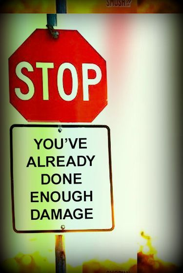Stop. You've already done enough damage. You've lost more than anyone... The sweetest person ever.