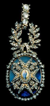 Gold, silver, diamonds Insignia of the order of Carlos III of Spain, XVIII