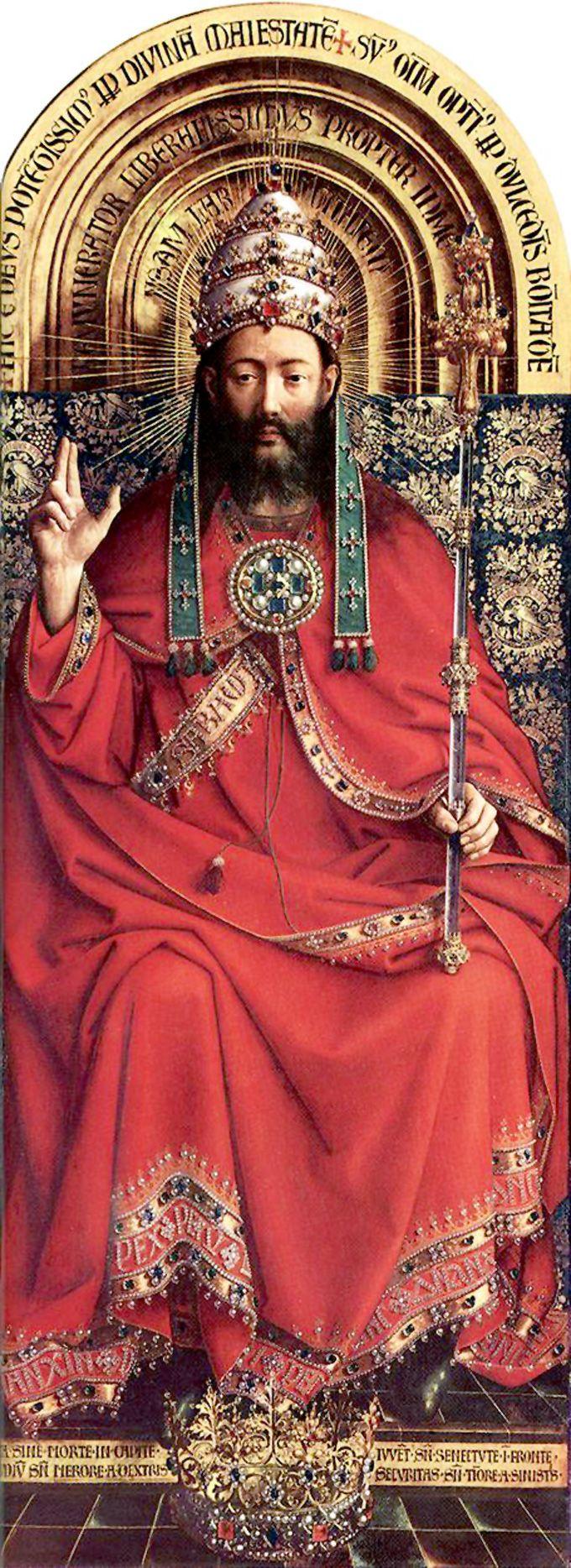 The Ghent Altarpiece: God Almighty by Jan Van Eyck, 1432