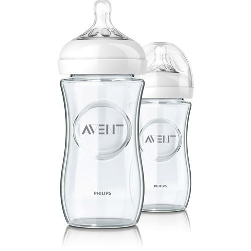 Philips AVENT 8-Ounce Natural Glass Baby Bottles, Set of 2, BPA-Free 20. wallmart
